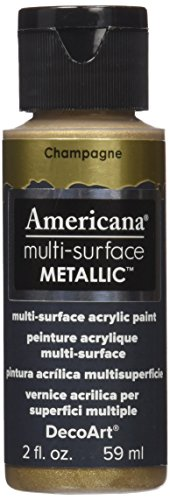 DecoArt DA554-30 Americana Multi-Surface Metallic Paint, 2-Ounce, Champagne
