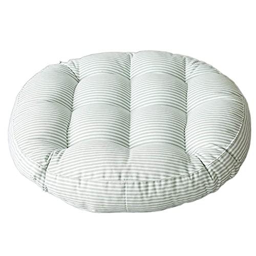 WQF Cojín Redondo para Silla, colchón de futón japonés, cojín de Asiento Redondo de Lino de algodón, para Restaurante en el jardín (Incluye 1 Almohada)