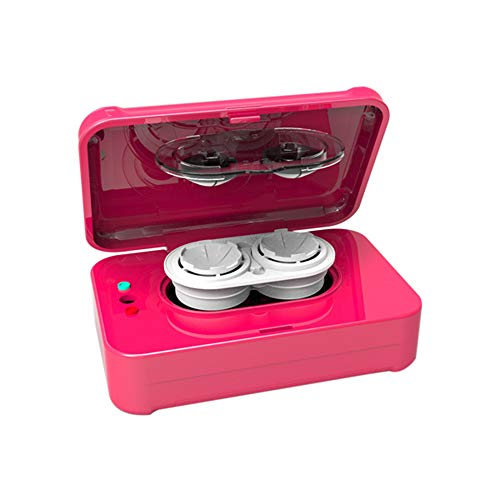 QQBB Contact Lens Cleaner Machine, Ultrasonic Contact Lens Cleaner with USB Charger, Small & Portable, for Disposal Soft Lens/Hard Lens/Contact Lens/Colored Lens/RGP Lens/OK Lens,Pink