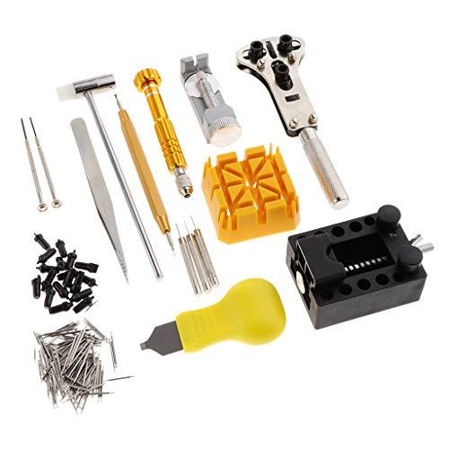 Hellery 140 delar urmakare, baköppnare, skiftnyckel, skruvskydd, borttagningsverktyg