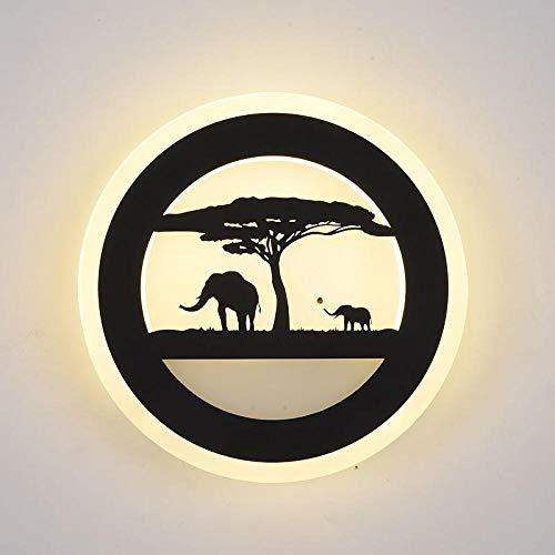 3D Nachtlicht Lampen Wandleuchte Nacht Schlafzimmer Wohnzimmer Kreative Einfache Wandleuchte @ Elephant Trompete Monochrom