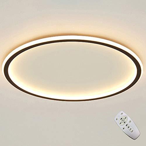 LED Runde Deckenleuchte Dimmbare Fernbedienung Deckenlampe Kreis Ring Leuchte Moderne Mode Hause Wohnzimmer Lampe Kreative Schlafzimmer Arbeitszimmer (50CM)