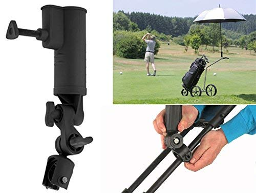 QIYAT Golf Cart Umbrella Holder, Angle & Internal Width Adjustable Umbrella Amount Universal for Bicycle Stroller, Baby Carriage, Wheelchair
