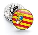 Gemelolandia | Pin de Solapa Magglass Bandera de Aragon 16mm | Pines Originales Para Regalar | Para las Camisas, la Ropa o para tu Mochila | Detalles Divertidos