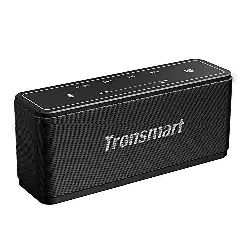 Alto-falantes Bluetooth portáteis Tronsmart Mega 40W Bluetooth 4.2 sem fio com 15 horas de reprodução, TWS, alto-falante sem fio portátil com driver duplo com microfone integrado, NFC, graves profundos, retroiluminação de LED