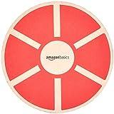 Amazon Basics - Tablero de equilibrio de madera, oscilante, Rojo