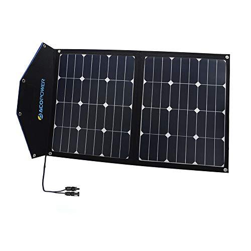 ACOPOWER 12V 80W Portable Solar Panel; Foldable Solar Suitcase for Solar Generator, Solar Freezer w SUNPOWER Cell