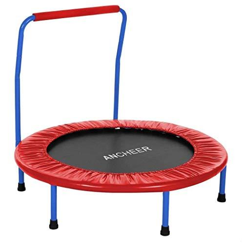 Trampoline Inklapbare handgreep Padded Frame Portable Duurzame met Safe Kids Set 9inch Cover 9cm Trampoline trampoline en overdekking,leilims