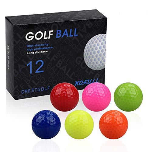 kofull 12pcs/Pack Pelotas de Golf Mini Pelotas de Golf Coloridas Bolas de Práctica de Golf Entrenamiento Golfs (Multicolor)