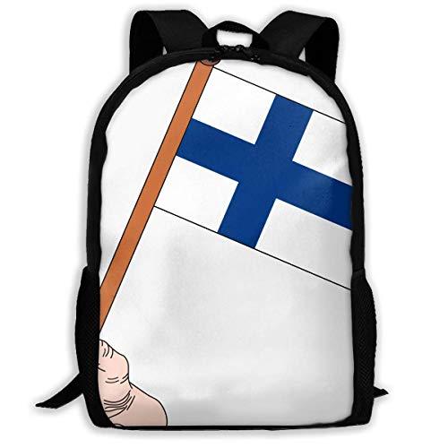Hui-Shop Reiserucksack Laptop Rucksack Große Wickeltasche - Flagge von Finnland Rucksack Schulrucksack für Frauen & Männer