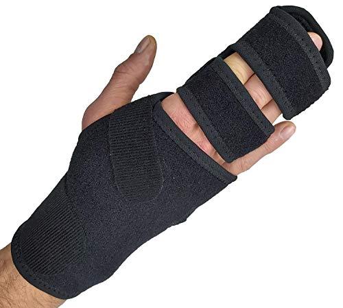 Trigger Finger Splint Finger Brace – Supports Two or Three Fingers. Help Broken Fingers Hand Contractures, Arthritis, Tendonitis, Mallet Fingers or Hand Splint for Metacarpal Fractures (Right - S/Med)