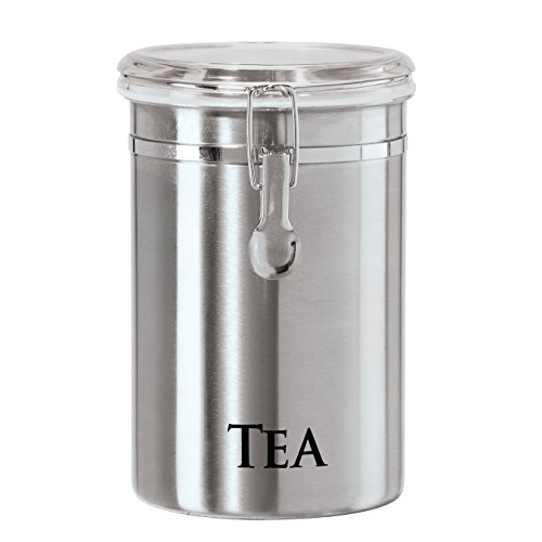"Stainless Steel ""Tea"" Airtight Canister"