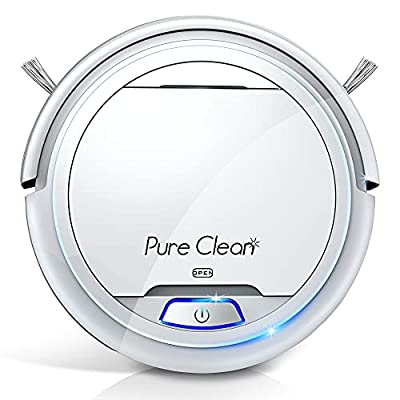 Automatic Smart Robot Vacuum Cleaner - Upgraded Lithium Battery 90 Min Run Time - Bot Self Detects Stairs Pet Hair Allergies Friendly Robotic Home Cleaning Automation for Carpet Hardwood Floor