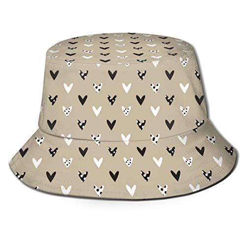 XCNGG Sombrero de Cubo Gorra de Sol de algodn Sombrero de Pescador Pjaros Pjaros en el Cielo para Hombres Mujeres