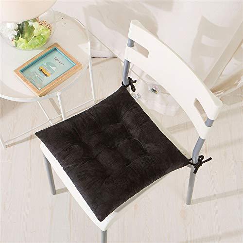 Stuhlkissen Platz Einfarbig Sitzkissen, Morbuy Atmungsaktiv Kristallvlies Tatami Mat Komfortable Stühle Bodenkissen Sitzauflagen für Outdoor Garten Office Sessel (Schwarz,40x40cm)