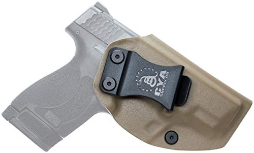 CYA Supply Co. Fits S&W M&P 9/40 Shield M2.0 Inside Waistband Holster Concealed Carry IWB Veteran Owned Company (Flat Dark Earth, 053- S&W M&P 9/40 Shield M2.0)