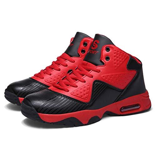 LFEU Männer Basketball Schuhe Atmungsaktiv Absorbieren Schweiß Feuchtigkeitsbeständige Luftkissen Schock Indoor Durable Fitness Turnschuhe