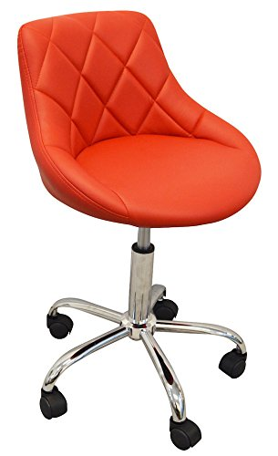 DevLon NorthWest Salon Nail Pedicure Manicure Medical Adjustable Swivel Rolling Stool Light Brown