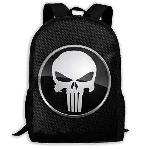 Customized Skull Kids School Backpack for Girls Boys Lightweight Durable Middle Elementary Daypack Book Bag