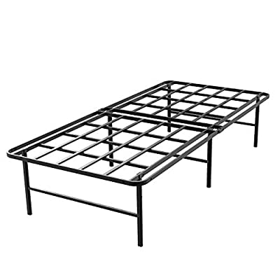 45MinST 16 Inch Tall SmartBase Mattress Foundation/Platform Bed Frame/3000LBS Heavy Duty/Extremely Easy Assembly/Box Spring Replacement/Quiet Noise-Free, Twin XL/Full/Queen/Cal King