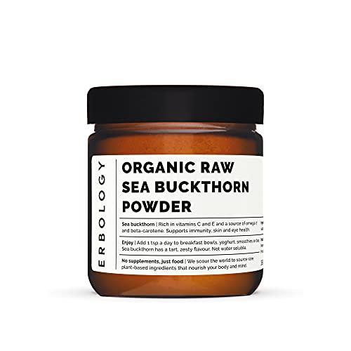 Polvo de Espino Amarillo Bio 35g - Omega 7 - Betacaroteno - Vitamina E - Potente Antioxidante