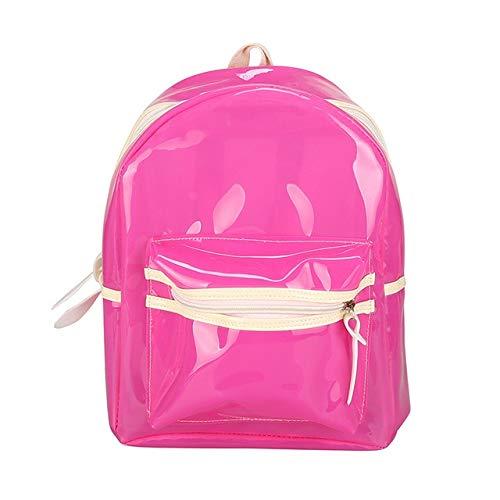 XTYZY Mochila transparente de luz LED para mujer, mochila impermeable para niña, mochila de playa eléctrica, mochila de plástico nueva, mochila fresca