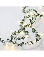 Uonlytech 2m 20LEDs Koperdraad String Lamp Vine Shape Decoratieve Fairy Rope Lamp