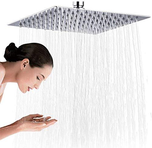 Verchroomde vierkante douchekop, douchetoilet, ultradun vast hoogwaardig 16-inch roestvrij stalen douchekop/chroom 40 cm