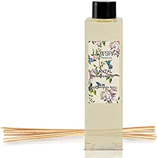 LOVSPA Reed Diffusers Oil Refill with Replacement Scent Sticks | Choose from Many Fragrances | Made with Natural Essential Oils | Made in The USA (Santal Sandalwood)