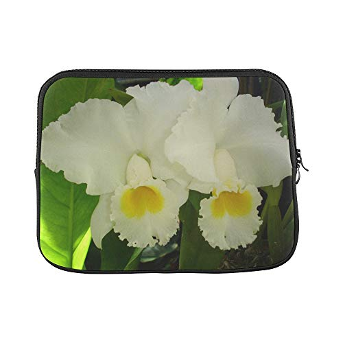 Design Custom Flower White Flower Daffodils Perennials Floral Sleeve Soft Laptop Case Bag Pouch Skin for MacBook Air 11'(2 Sides)