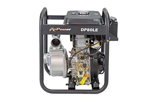 ITCPower DP80LE Motobomba diésel, negro