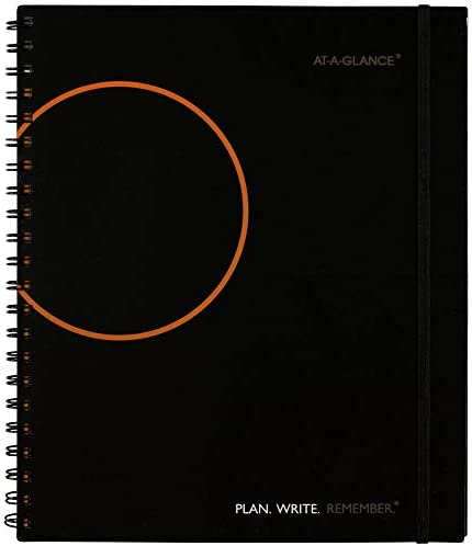 Planning Notebook by AT A GLANCE Undated 8 1 2 x 11 Plan Write Remember with Reference Calendars product image