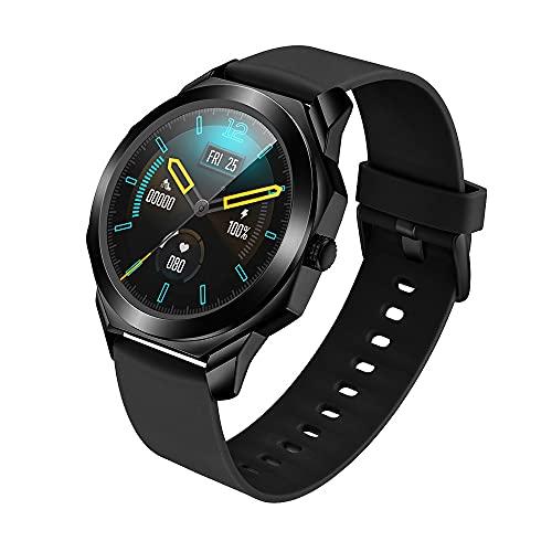 LZXMXR Relojes Inteligentes, Relojes actuariales Deportivos Profesionales, Pantalla táctil Completa Posicionamiento Impermeable para Hombre Bluetooth Deportes multifunción Pulsera Inteligente