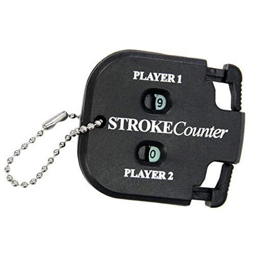T TOOYFUL Golf Scorer Schlagzähler Scorezähler Counter für 2 Spieler Golf Trainingshilfe