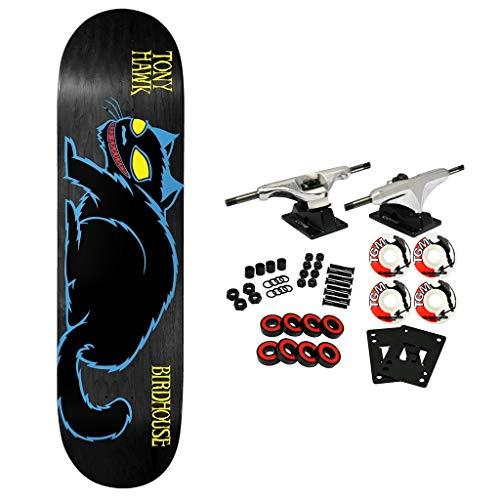 "Birdhouse Skateboard Complete Tony Hawk Evil Cat Blue 8.25"" Assorted Colors"