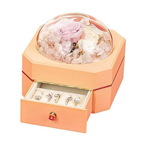 YUNLILI Caja de Regalo de joyería de Rosa para Siempre Eterna Hecho a Mano Flor de Rose para Mujeres, Esposa, Novia en Día de San Valentín, Cumpleaños, Día de la Madre (Color : Natural)