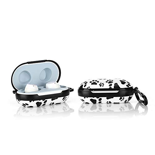 LKDEPO Hard Silicone Case and Skin Compatible for Galaxy Buds (Plus) (Front LED Visible), PET Material IMD Technology Full Body Protective Cover Case with Keychain for Samsung Galaxy Buds - Dog Paw