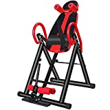 MUYIER Inversion Table with Heat and Massage – Max User Weight 120 Kg – Improves Back Pain and Posture-for Fitness exerciseAdjust Your Body