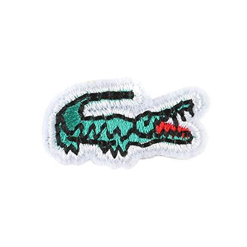 CAOLATOR 10 stück Patches für Kleidung Karikatur Krokodil Patches Aufbügeln DIY Kleidung Patches Applique Patch Flicken Nähen Patches für T-Shirt Jeans Taschen Schuhe Hüte