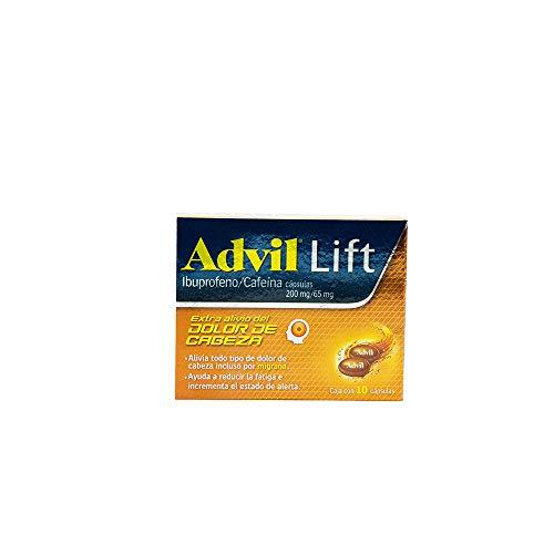 Advil Lift, 10 Cápsulas Líquidas.