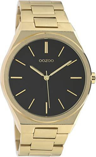 Oozoo Herrenuhr mit Stahlarmband Ø 40 mm Gold/Schwarz C10337