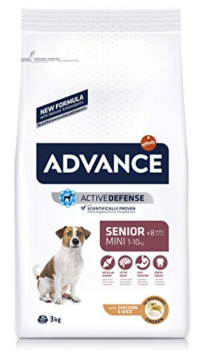 ADVANCE Mini Senior - Pienso para Perros Senior de Razas Pequeñas - 3 Kg