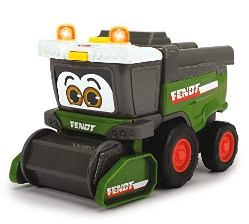 Dickie Toys Happy Fendt Team, Spielauto für Kinder, 3 verschiedene Modelle: Traktor, Raupenfahrzeug oder Mähdrescher, Lieferung: 1 Stück, Bauernhof, Licht & Sound, für Kinder ab 1 Jahr, 16 cm