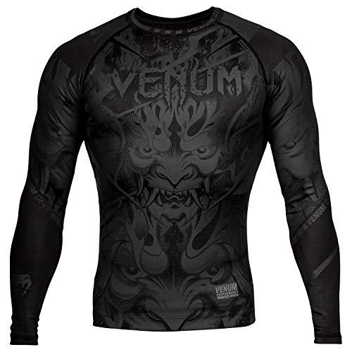 Venum Devil Rashguard - Long Sleeves - Black/Black - XXL