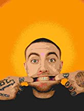 Malcolm James McCormick Mac Miller Rapper Singer Musician DJ Remixer Record Producer 12 x 18 Inch Quoted Multicolour Rolle...