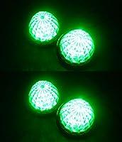 トラック用 マーカーランプ LED サイド マーカー 12LED 24V 用 汎用 4個 セット ブルー/イエロー/レッド/ホワイト/グリーン 各色あり (グリーン)