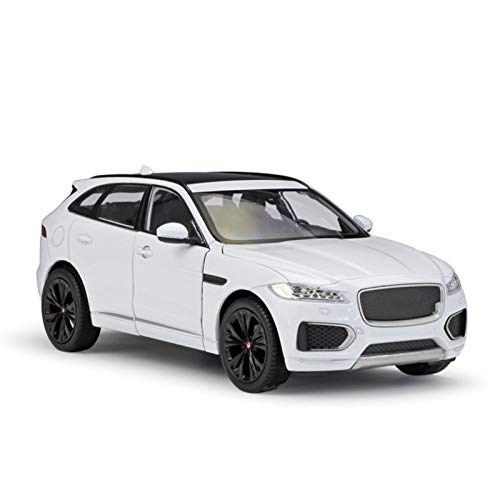 Modelo Coche Aleación 1:24 Para Jaguar Para F-Pace Suv Alloy Car Modelo Diecasts & Toy Vehicles Collect Gifts Transport Toy Casting Modelo De Coche Coche Juguete para Niños ( Color : BLANCO )