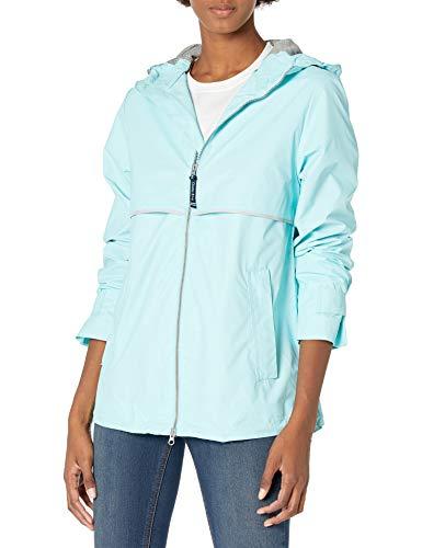 Charles River Apparel Women's New Englander Waterproof Rain Jacket, Aqua Reflective, XL