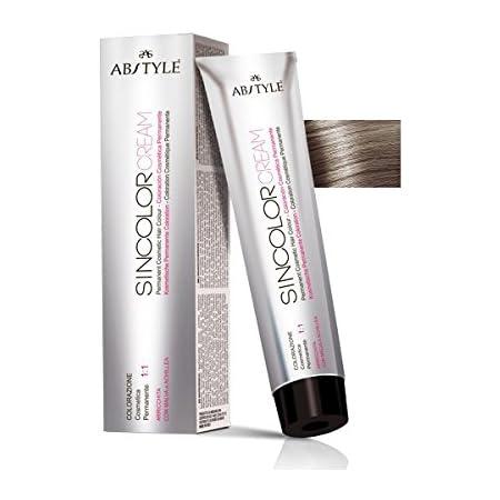 Ab Style Sincolor Cream - Tinte permanente profesional para cabello en crema de oxidación, rubio claro ceniza 8.1 (100 ml)