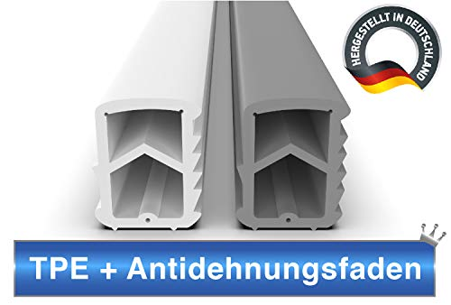 Stahlzargendichtung Grau 10m - gegen Zugluft Lärm & Staub spart Heizkosten Dichtung Dichtungshöhe 16mm Dichtungsbreite 12mm Falz Türdichtung (Grau 10m)
